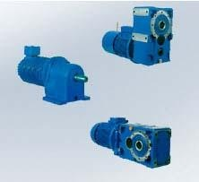 Gearmotors for roller ways
